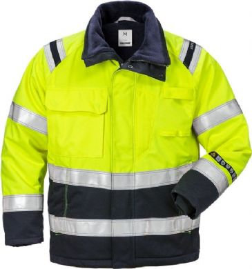 Fristads Flamestat High Vis Winter Jacket CL 3 4185 ATHS (Hi Vis Yellow/Navy)